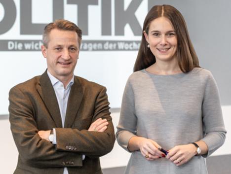 Nikolaus Blome und Selma Stern haben gemeinsam das Konzept des wöchentlichen Magazins Bild Politik entwickelt/Foto: Axel Springer