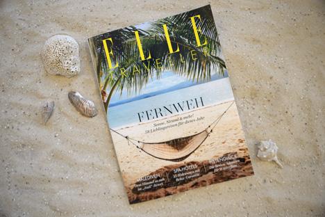 Das Reisesonderheft Elle Traveller erscheint in einer Auflage von 230.000 Exemplaren und wird künftig viermal im Jahr der Elle und der Elle Decoration beigelegt/Foto: Hubert Burda Media
