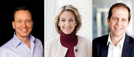 Auch für die kommenden fünf Jahre das Führungstrio bei Gruner + Jahr (v.l.): Oliver Radtke, Julia Jäkel und Stephan Schäfer/ Fotos: G+J