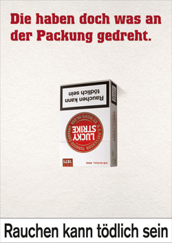 lesetipp das neue lucky strike logo polarisiert. Black Bedroom Furniture Sets. Home Design Ideas