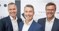 Die neue Doppelspitze bestehend aus Peter Selzer (l.) und Michel Bieler-Loop (r.) übernimmt die Geschäftsführung des Südkuriers von Rainer Wiesner (m.)/ Foto: Südkurier